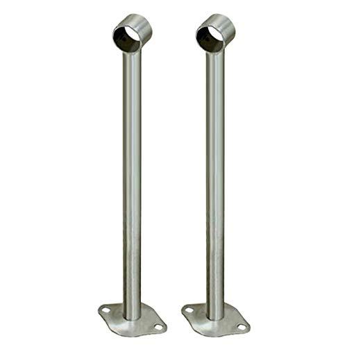 2 Stück Edelstahl Stangenhalter Deckenhalter Halterung zur Deckenmontage für Kleiderstange Vorhangstange - 400 mm