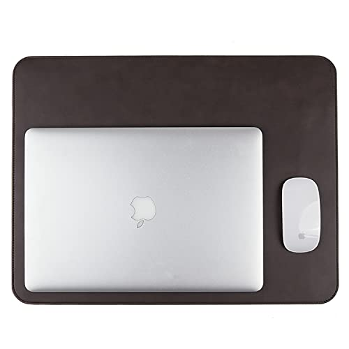 Podkładka na biurko ze skóry, do biura i domowego biurka, ręcznie wykonana przez toskańskich rzemieślników, brązowa (50 x 38 cm)