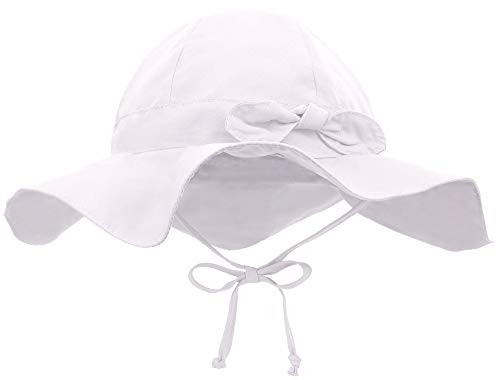 Siero Baby Sun Hat with UPF 50+ Adjustable Kids Cap, White 0-12...