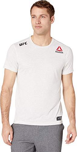 Reebok Herren UFC Fight Night Authentic Blank Jersey kurzärmelig, kreidefarben, Small