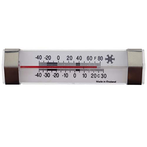 Fridge Thermometer with Safe Zones Refrigerator Thermometer - Horizontal Fridge Freezer Thermometer with Ideal Zones