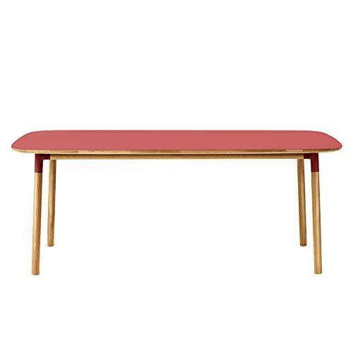 Normann Copenhagen Form Esstisch 200x95cm, rot Eiche Tischplatte Linoleum LxB: 200x95cm