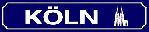 FS Straßenschild Köln Stadt mit Dom Blechschild Schild gewölbt Metal Sign 10 x 46 cm