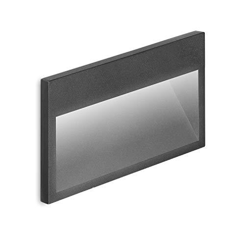 Volton - Aplique LED de Pared Interior/Exterior de empotrar IP65, 9W, 450Lm, 3000K, Color Gris Antracita