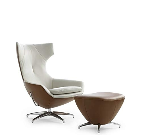 BINGFANG-W Morbido Confezione da sedie 10x, Sedia da Salotto Nido Girevole con poggiapiedi / (Color : PU Leather)