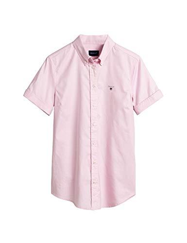 GANT Damen Stretch Oxford SOLID SS Shirt Bluse, Light PINK, 38