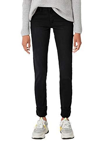 Q/S designed by - s.Oliver Damen 41.909.71.3209 Flared Jeans, Grau (Black Denim, Heavy 98z6), 38W / 30L