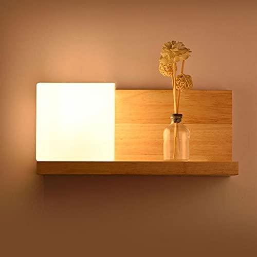Kioiien Lámpara de pared de iluminación de escoce de madera Lámpara de pared Lámpara de vidrio Iluminación de la lámpara de madera maciza Iluminación Iluminación Sala de estar Corredor Balcón Luz de n