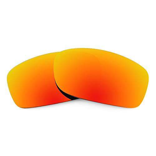 Revant Revant Ersatzgläser für Oakley Fives Squared - Kompatibel mit für Oakley Fives Squared, Polarisiert, Feuerrot MirrorShield