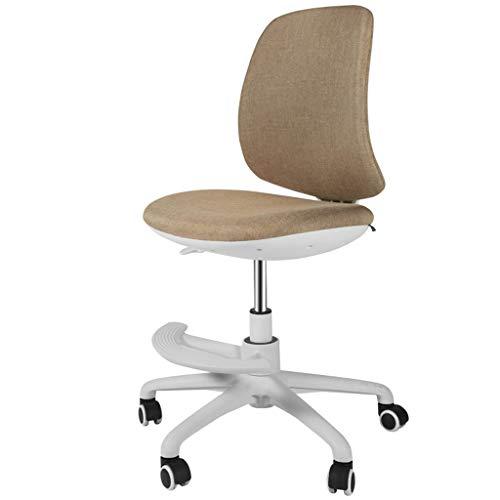 npcs Silla para videojuegos, silla para ordenador de casa, silla ajustable, silla de estudio, giratoria, silla de oficina, sin reposabrazos, sillas de escritorio (color: caqui, tamaño: A)