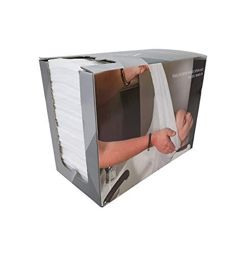 KAVAK COSMETICS Toallas con Dispensador Spun-Lace 40x80 Color Blanca, Desechables, Peluquería/Estéticas/Gym/Hospitales/Mascotas 200 Unidades