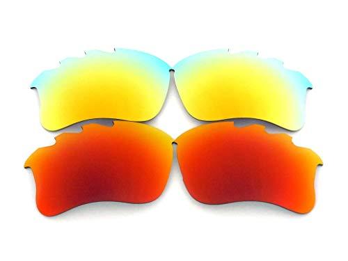 Lente de repuesto para gafas de sol Oakley Flak Jacket xlj ventiladas rojo/dorado polarizadas