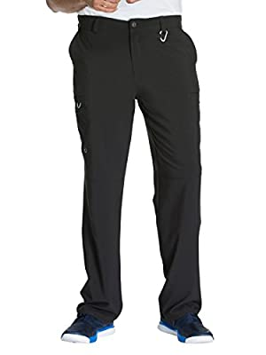 CHEROKEE Infinity CK200A Men's Fly Front Cargo Pant Black M