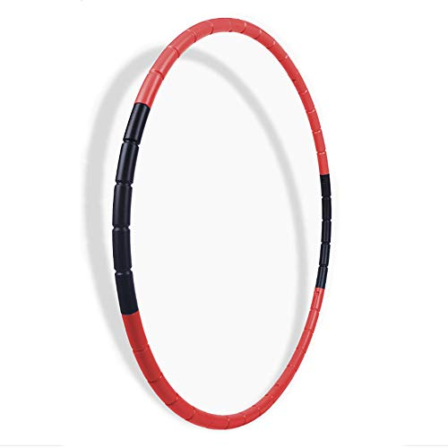 BOHS Fitness Hoop Detachable Plastic Children Gymnastics Toys Red
