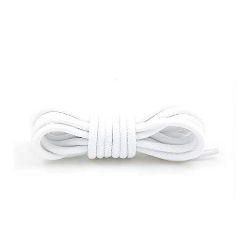 BTKNOO 1 Paar Runde Schnürsenkel Polyester Solide Klassische Martin Boot Schnürsenkel Casual Sportstiefel Schuhe Spitze 90 cm / 120 cm / 150 cm 21 Farben, Weiß, China