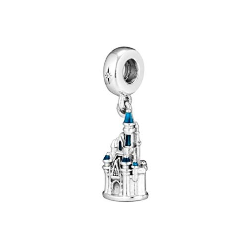 Colgantes De para Mujerm,Personalidad Moderna Navidad Chainless Blue Magic Castle Forma Encante para Señoras Vacaciones Regalo Regalo De San Valentín Navidad Regalo Joyería Actual