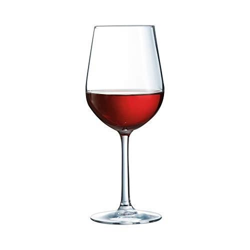Arcoroc ARC L7426 Domaine Rotweinkelch, Weinglas, 370ml, Glas, transparent, 6 Stück