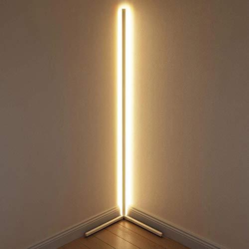 Stehlampe LGFSG Dimmen Schwarz Weiß Stehleuchte Moderne LED Stehleuchten Stehlampe einfache Ecke Stehlampe Ecke, weißer Körper, RGB-Fernbedienung