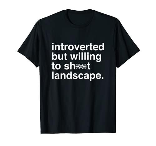 Lustiges Introverted Landscape Fotografie Fotografen T-Shirt