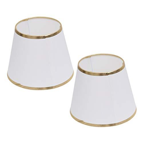 SOLUSTRE 2 Piezas de Pantalla de Lámpara de Tela de Barril Pantalla de Ala Dorada Cubierta de Lámpara para Sala de Estar Dormitorio Lámpara de Mesa Lámpara de Suelo Reemplazo de Lámpara de