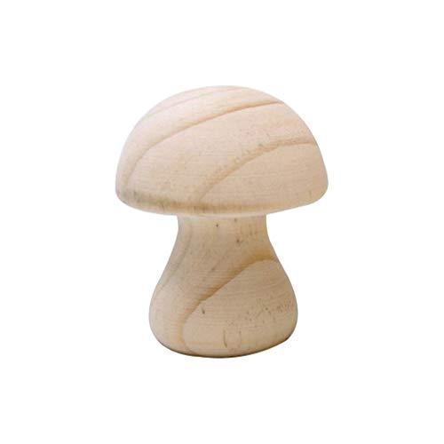 Cabilock Holz Armband Halter Pilz Form Armreif Display Stand Schmuck Ring Schreibtisch Veranstalter für Zuhause Shop