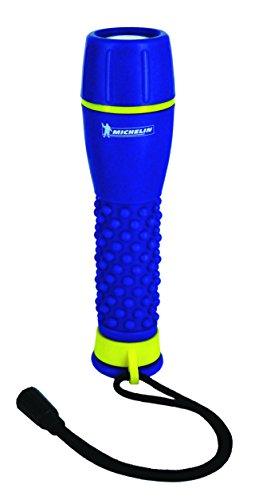 Michelin M40L22 Torche Ultra lumineuse, fonctionne avec 2 piles R06-AA, 1 W, Bleu/Jaune, 4,3 x 24 x 14,5 cm