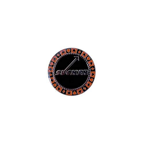 Poker Weight Card-Guard Sucker - Toupie en métal - 2 Faces différentes - 55 mm