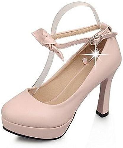 Zormey Chaussures Femmes Talon Talons   Plate-Forme   Round Toe Heels Partie &Amp Soir¨ e   Robe Bleu   Rose   Beige Rouge Rose Us7.5   Eu38   Uk5.5   Cn38