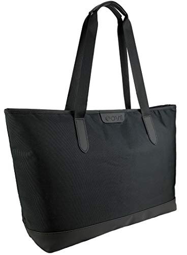 OVÉ Large Laptop Tote Bag for Women Fits 15.6 Inch Computer Black Ladies Work Tote Bag College Student Bag