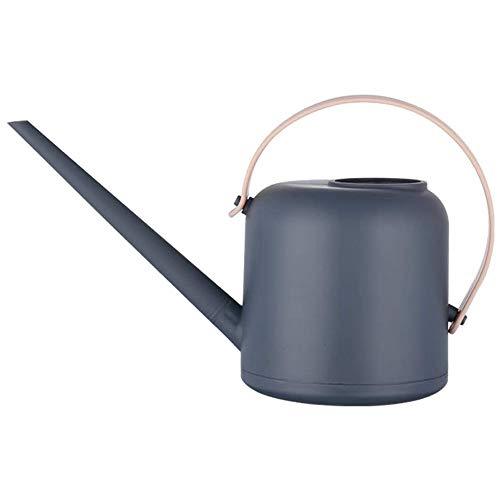 AiMok 1.5L Regadera Plástico, Regadera de jardín de caño Largo para Plantas de Interior Suculentas Hierbas Bonsai (Azul Oscuro)