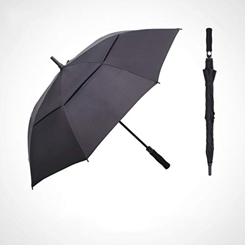 Reisparaplu Inch Automatische Open Golf Paraplu Extra Grote Oversized Dubbele Luifel Geventileerde Winddichte Waterdichte Stok Paraplu's 43/53 inch