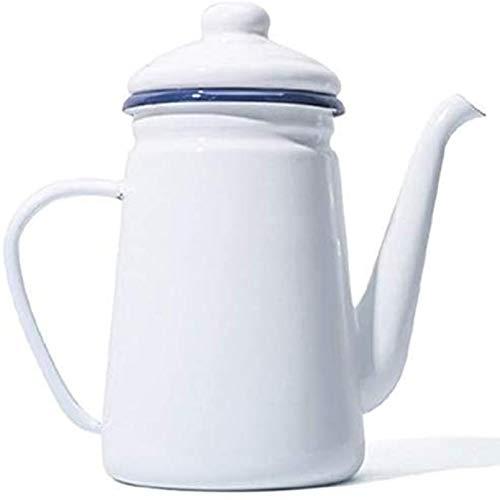 Pevfeciy Hoch Wertige Kaffeekanne Emaille Kaffee Kanne Gie Barista Tee Kanne,Konisch 1.1L Für Gas Herd Und Induktions Herd,B