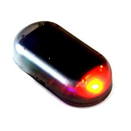 DDG EDMMS pratique témoin lumineux LED intérieur d'avertissement solaire anti-vol factice clignotant clignotant pour voiture rouge Outils de bricolage