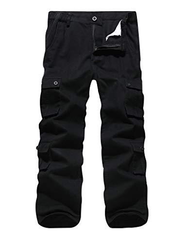ELETOP męskie spodnie bojówki bojowe codzienne spodnie robocze wojskowe taktyczne spodnie 40 z 8 kieszeniami