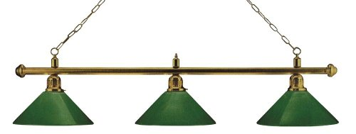Unbekannt London Heliobil, Ottone/Verde, Leuche per Stecca da Tavolo Illuminazione