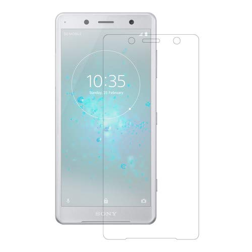 Tektide Screen Protector Compatible for Sony Xperia XZ2 Compact, Drop-protection Shatter-proof Safety Laminated Tempered Glass Screen Protectors/Display Shields[2 Pack]