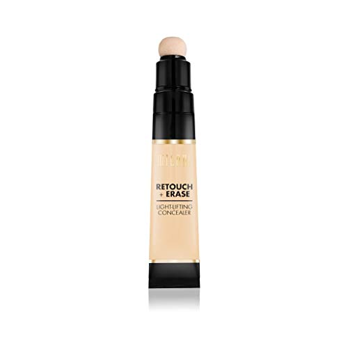 Milani Retouch + Erase Light-Lifting Concealer - Light (0.24 Ounce) Cruelty-Free Liquid Concealer with Cushion Applicator Tip to Cover Dark Circles, Blemishes & Skin Imperfections