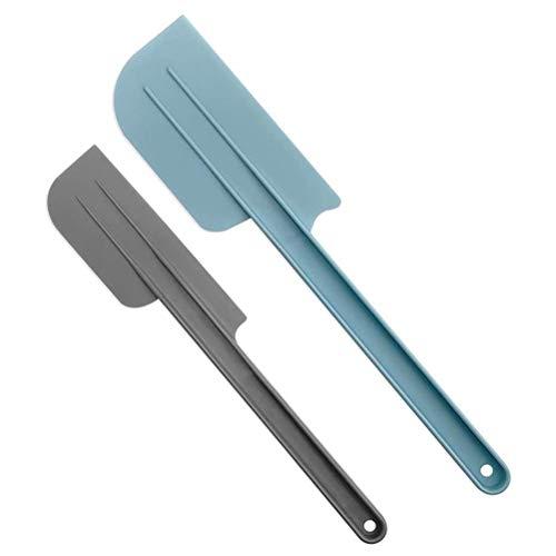 Bonbela Espátula aplicadora para crema de 25,4 cm y 12 pulgadas, 2 unidades, de plástico, mango suave, para cocina, utensilios de horneado