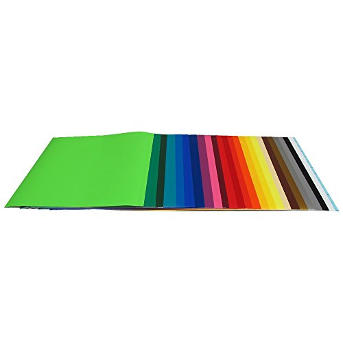 """Vinyl Ease 12"""" x 12"""" - 40 Sheets of Assorted Matte Colors of Removable Adhesive Backed Vinyl for Craft Cutters, Punches and Vinyl Sign Cutters - V0104"""