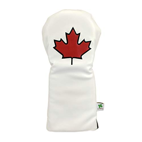 Foretra – Limited Edition Maple Leaf – Canada Driver Head Cover – Tour Quality Golf Club Cover – Style and Customize Your Golf Bag