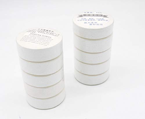 携帯 用 圧縮タオル 小型 綿 フェイスタオル 旅行 非常用 防災 アウトドア 30 × 65 cm (10個)