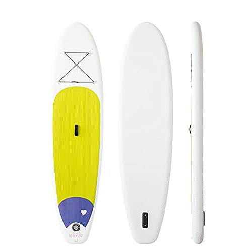 Stand Up Paddle Board Inflatable SUP W Stand-Up Paddle Board Accessories Backpack Paddle Leash Pump Non-Slip Deck ISUP Fishing Yoga Rigid Solid 10'× 30
