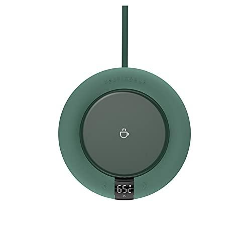 Warmer Tassenboden mit konstanter Temperatur, Stövchen Elektrische Wasserdichte Touch-Heizung Tasse Matte warme Auflage für Kaffee Tee Milch Getränkewärmer (grün)