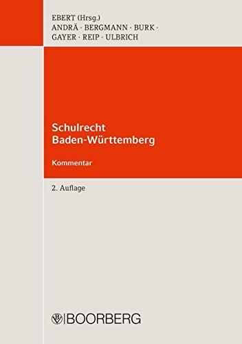 Schulrecht Baden-Württemberg: Kommentar