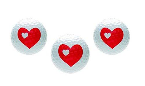 Unbekannt Golfballset HERZ,Golfbälle mit Herzdesign,Golfgeschenke für Verliebte Herzen