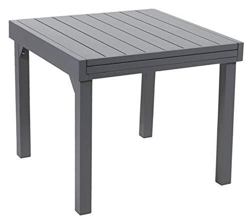 Wilsa Table jardin Modulo full aluminium 90 à 180 cm gris anthracite - T4/8