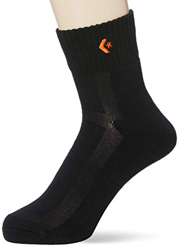 [コンバース] バスケ 靴下 試合/練習用 ソックス ニューアンクルソックス CB160069S ブラック/オレンジ 2729