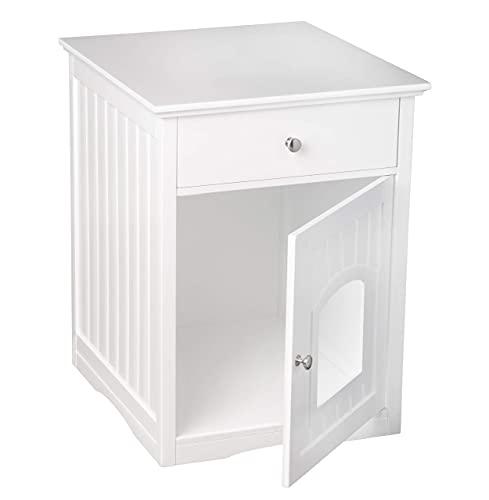 UPP® Casa para gato, cubierta para caja de arena y mueble con cajón, todo en uno I cueva para gato I cobertor para arenero de gato I mueble para gato I casa de gato con cajón I armario de gato