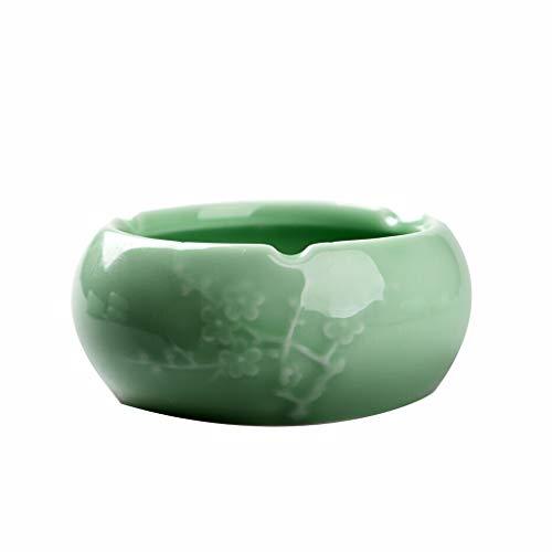 Preisvergleich Produktbild Newness Modern Tabletop Aschenbecher Kreative Mode Große Ohne Abdeckung Kristallglas Aschenbecher Schlafzimmer Wohnzimmer Persönlichkeit Keramik Aschenbecher Tragbar für Draußen und Innen,  für Home-Of