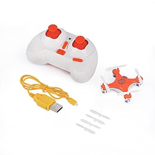 Mini RC Drone Elicottero Radio Aircraft modalità Wireless Drone Quadcopter Mini è Cheerson CX-10 Giocattoli Telecomando a 6 Assi, Monsteramy. (Color : Orange)